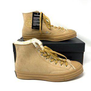 Converse Chuck Hi Sneaker Coffee Suede Faux Fur M